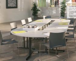 Table de réunion modulable et pliante AGRA