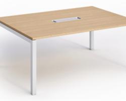 Table de réunion grande largeur avec top accès RABAT