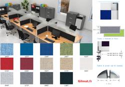 RGIL écran de bureau tissu hauteur 350 mm
