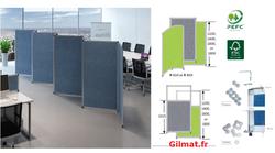 RGIL cloison  tissu hauteur 1800 mm