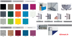 RGIL cloison tissu hauteur 1400 mm