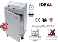 DESTRUCTEUR DE BUREAU IDEAL 2404 CC 2X15 686,00 € HT