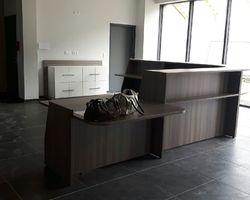 comptoir d'accueil fabrication française avec rangement armoire fabrication française GILMAT Paris
